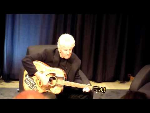 Graham Nash plays 'Peggy Sue' on Buddy Holly's guitar