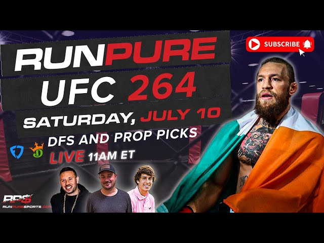 UFC 264 - MCGREGOR vs POIRIER 3  - DRAFTKINGS DFS AND PROP ANALYSIS