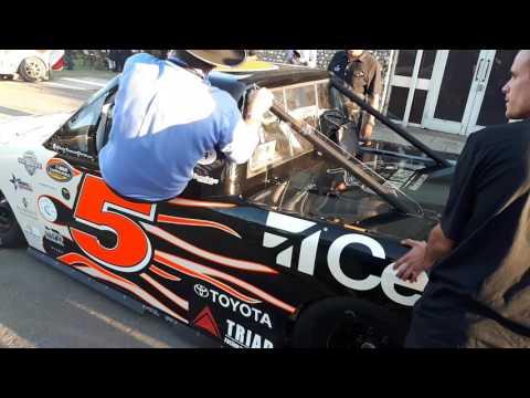 Goodwood 2017 Mike Skinner rick crawford NASCAR featuring miss Dannan Noye
