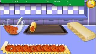 Sara's Cooking Class Chicken Lasagna Roll-Ups (Кухня Сары: Куриные конвертики из лазаньи)
