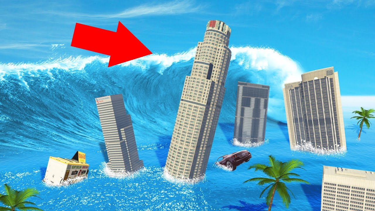 SURVIVE The TSUNAMI In GTA 5! (Mods) thumbnail