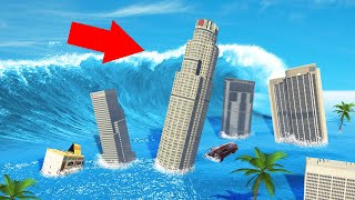 SURVIVE The TSUNAMI In GTA 5! (Mods)