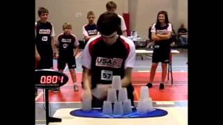 New cup stacking world record and Epic Reaction
