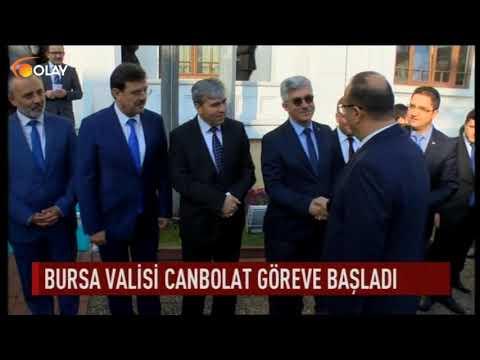Bursa Valisi Canbolat göreve başladı