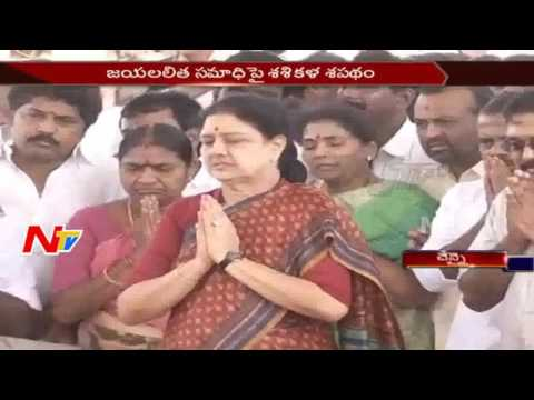 Sasikala Pays Tribute to Jayalalithaa at Marina Beach || Tamil Nadu || NTV
