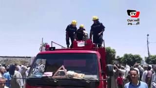 محافظ بني سويف يتقدم مشيعي جثمان أحمد أبوطالب شهيد رفح