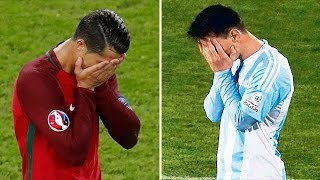 Cristiano Ronaldo vs Lionel Messi - All 20 Missed Penalties In Their Careers