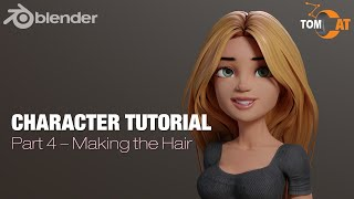 Blender Complete Character Tutorial  - Part4 - Low Poly Hair