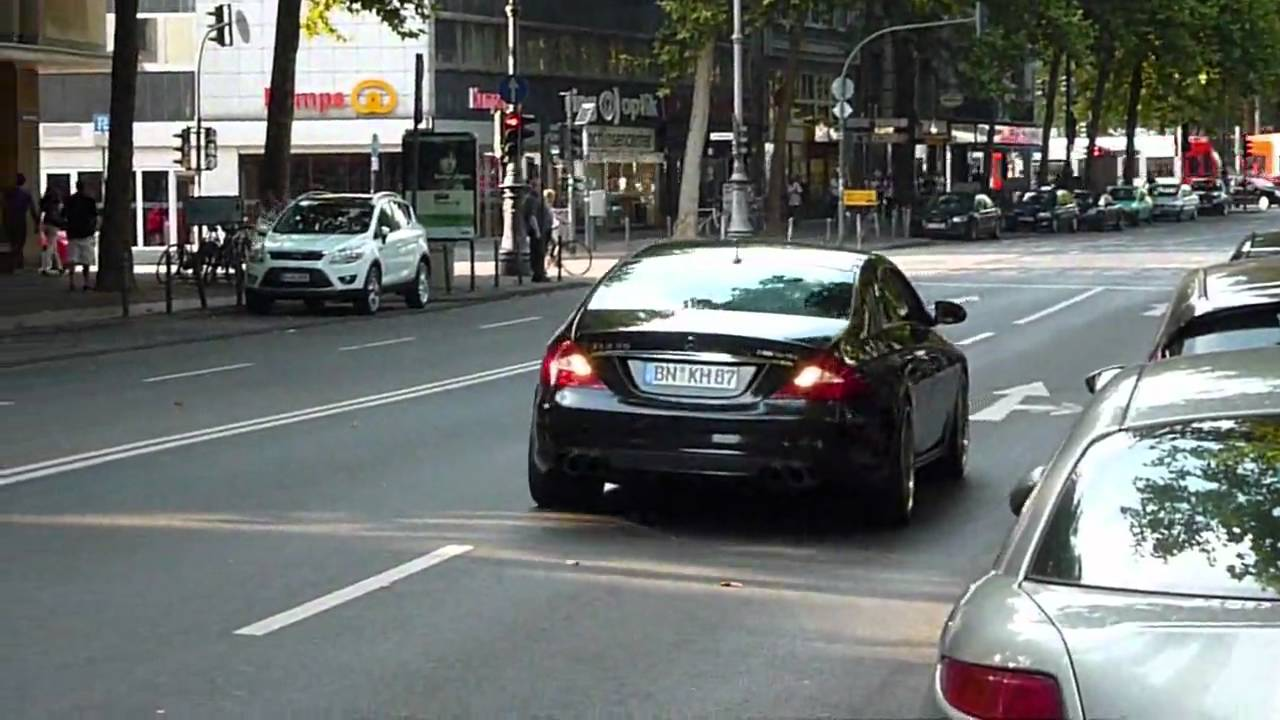 mercedes cls 55 amg great acceleration in k ln cologne youtube. Black Bedroom Furniture Sets. Home Design Ideas