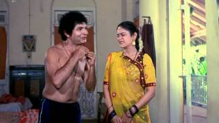 Asrani To Fight With A Renowned Wrestler - Ghar Ek Mandir Best Clips - Aruna Irani