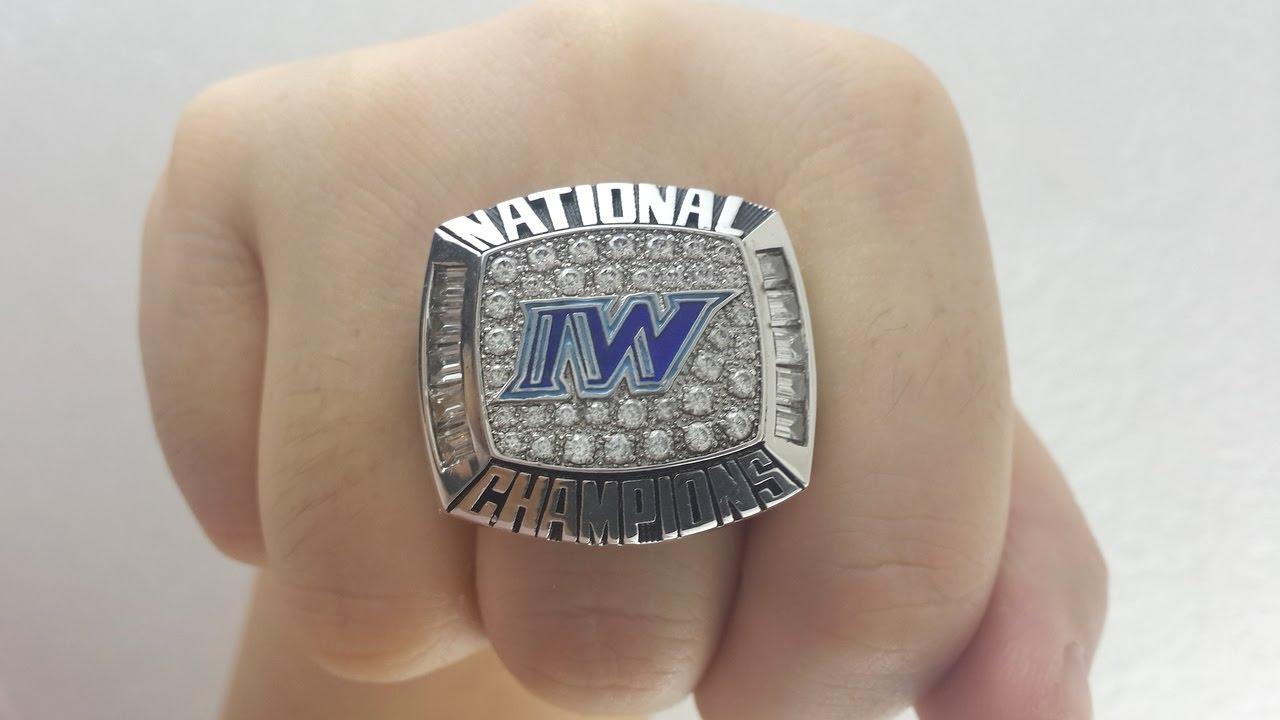 2012 Iowa Western Reivers College Football Njcaa Championship Ring