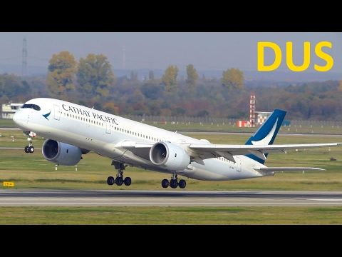 BUSY DAY Planespotting at Düsseldorf Intl. Airport: A350, A380, 757 and more! [Full HD]