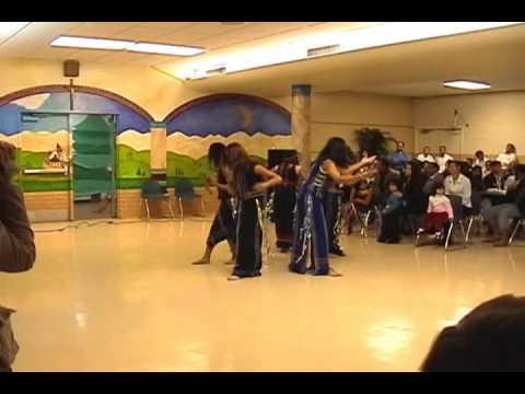 Montagnard dancing (nhip song cao nguyen) on christmas at St Patrick's cathedral church