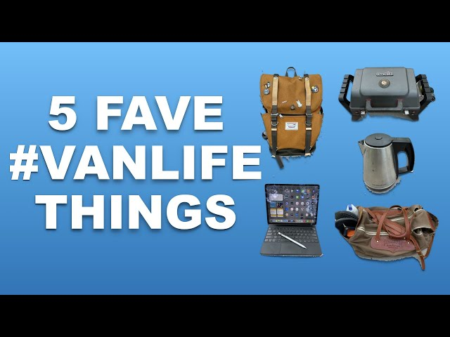 5 MUST HAVES 2 IMPROVE #VANLIFE grill, Coffee, Organize, Backpack by fulltime in Travato camper van