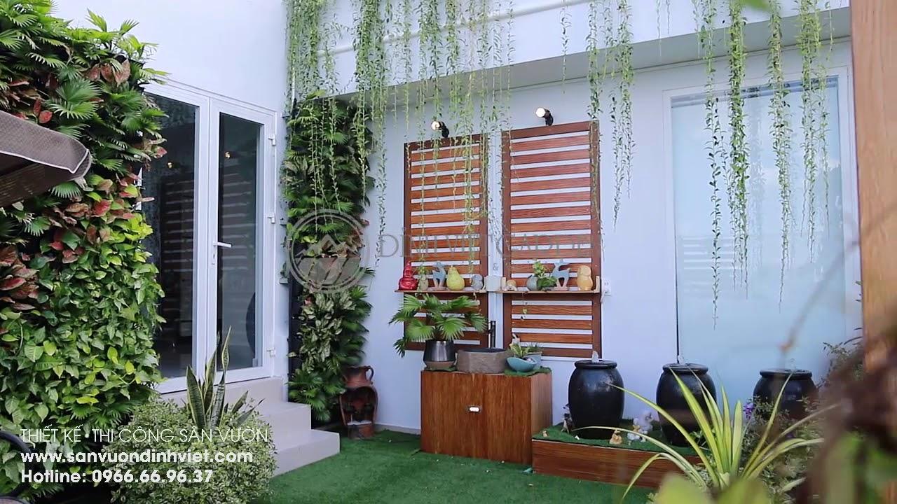 Thiết kế thi công sân vườn trên sân thượng nhà biệt thự Chị Thuỷ, Q6
