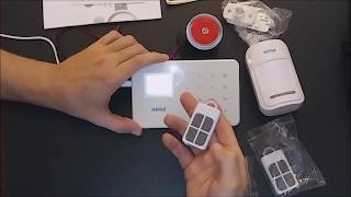 Review & How To Set Up KERUI G18 Phone APP GSM Home Alarm Security System. ;-)