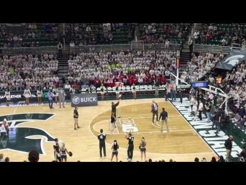 2016-2017 Michigan State Basketball  Buick Partnership Assets Free Throw Contest for Final Four