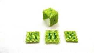 Игральный кубик из бисера 1 часть. /Dice bead 1 part