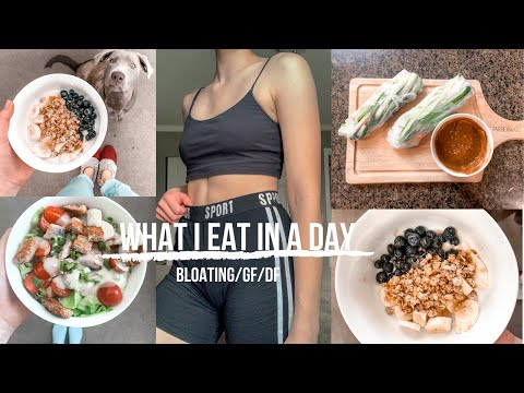 WHAT I EAT IN A DAY THAT HELPS WITH BLOATING!!