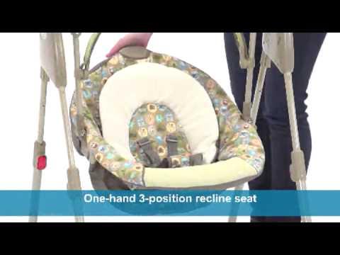 Graco Swing By Me Portable 2 in 1 Swing, Little Hoot  Baby