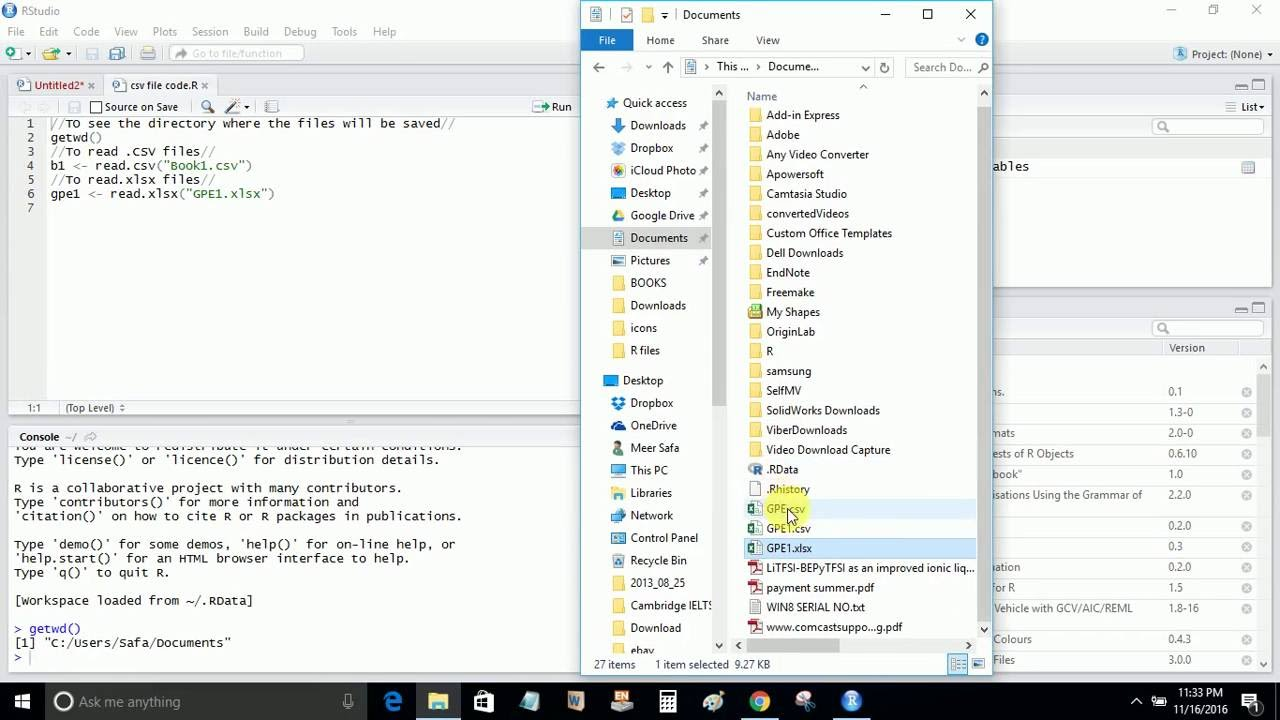 OPEN CSV file in R   How to run CSV file in R software   R software tutorial