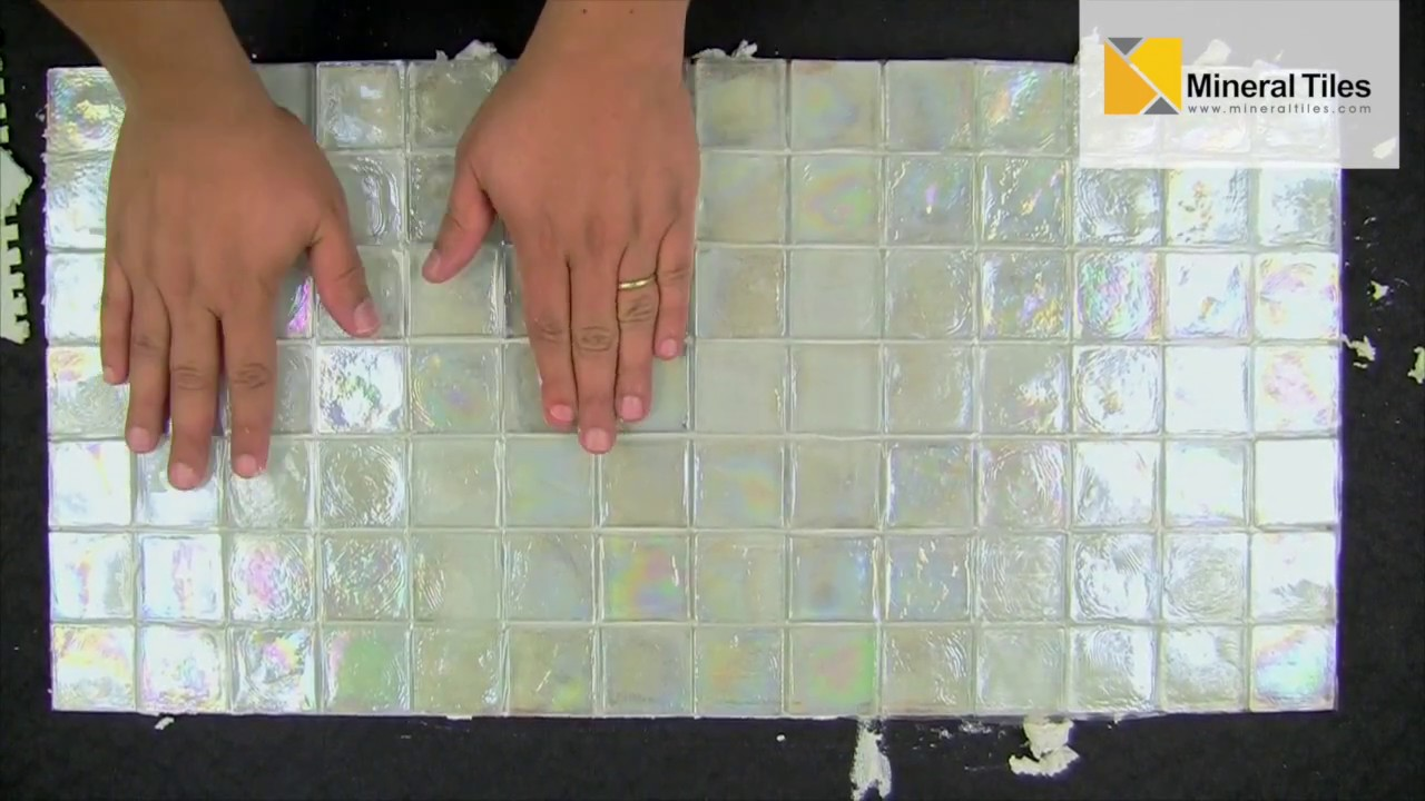 How To Install Translucent Glass Tiles Youtube