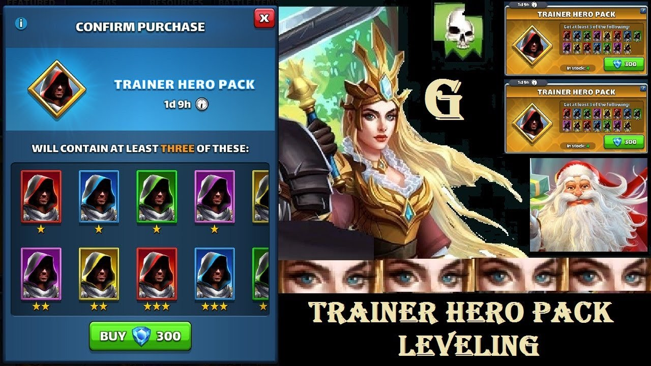 Legendary on first summons! Leveling with Trainer Hero Packs!