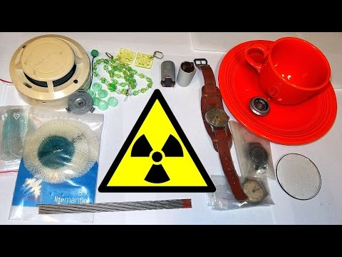 Radioactive Items in a Household and Everyday Life