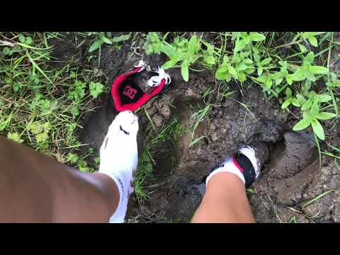 Kate brand new DC shoes very muddy (with Puma socks)