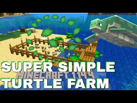 How to make a Turtle Farm In Minecraft 1.14.4: Very Survival Friendly Turtle Scute Farm (Avomance)