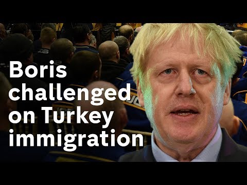 Boris Johnson challenged on Brexit immigration claims
