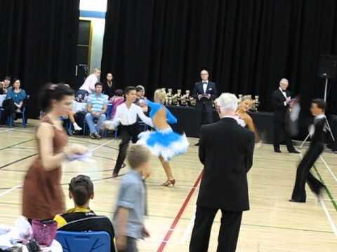 Yorkshire Open Ballroom Dance Festival 2011. Sheffield UK.  Latin final under 14.