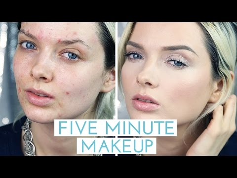 Acne Coverage Five Minute Makeup Tutorial // MyPaleSkin
