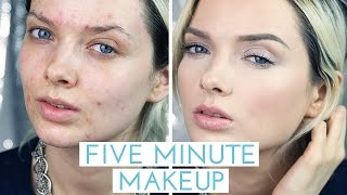 acne coverage five minute makeup tutorial mypaleskin