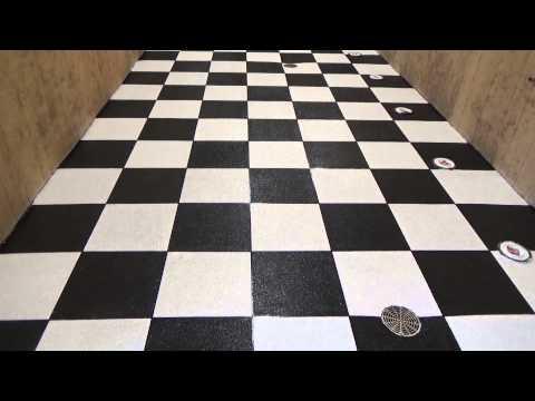 Epoxy Flake, Checker board, Premier Concrete Coatings, Columbus, Ohio Bathroom Flooring