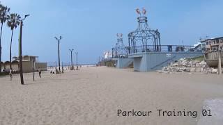 Parkour Training in Santa Monica 2017.