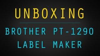 brother pt 1290 label maker unboxing