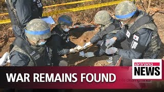 S. Korea finds 5 more sets of war remains in DMZ while clearing mines