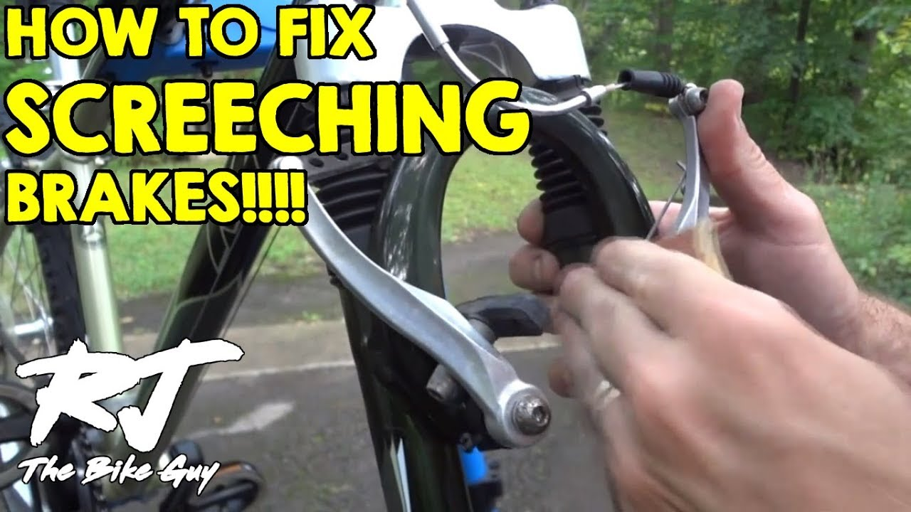 How To Fix Loud Squealing Screeching Bike Brakes Youtube