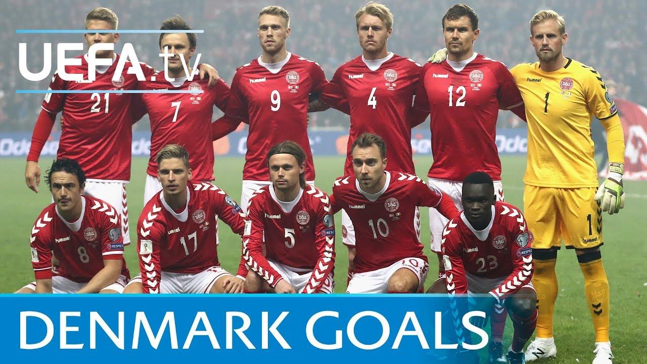 Resultado de imagem para Denmark top five European Qualifiers goals