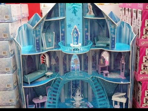 INSIDE the Frozen SnowFlake Mansion! Doll house.