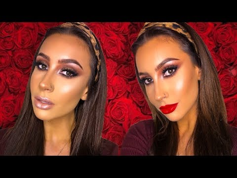 VALENTINES/DATE NIGHT MAKEUP TUTORIAL // TWO LIP IDEAS | Make Up By Emma Brown