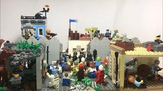 """Огромная Лего самоделка на тему зомби апокалипсис """"лагерь бандитов"""""""