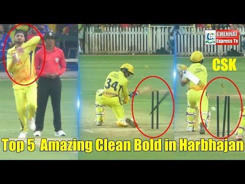 VIVO IPL | CSK | Top 5 Amazing Clean Bold in Harbhajan singh | Chennai Express | Chennai Express Tv