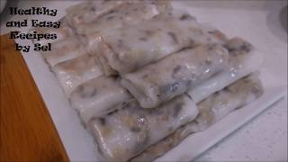 Rolled Rice Papers with Pork Recipe