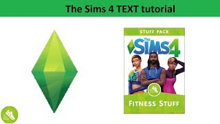 The Sims 4 Text Tutorial: Fitness Stuff Pack