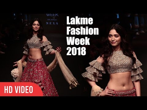 Tamannaah Bhatia Lights Up's The Fire At Lakme Fashion Week 2018 | LFW 2018 Day 04