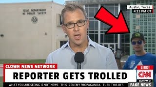 "CNN Reporter Heckled with ""Fake News!"" Shouts by Passerbys 😂"