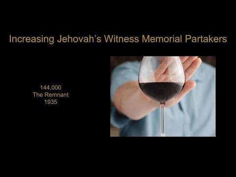 The Increasing Number of Jehovah's Witness Memorial Partakers