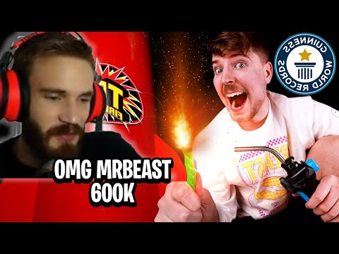 Pewdiepie reacts to Mrbeast I Bought The World's Largest Firework ($600,000) indir